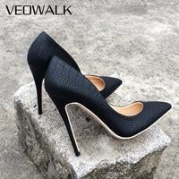 Veowalk/Брендовые женские классические туфли на высоком каблуке-шпильке в итальянском стиле, пикантные женские туфли-лодочки с острым носком, ...