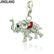 Jinglang модные стразы эмалевые животные 3d Слоны Подвески с