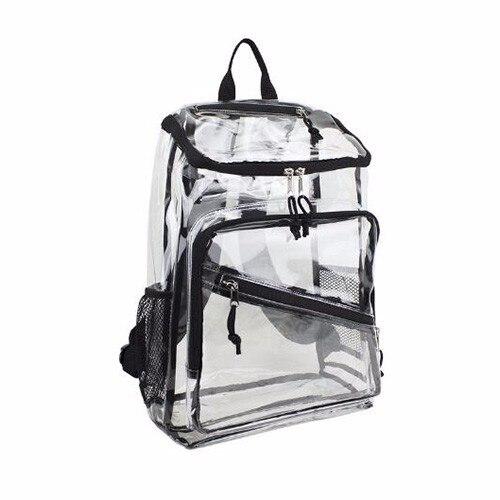 nuovo prodotto 539c4 5d864 US $3690.0 |Personalizzato Trasparente IN PVC Trasparente Zaino con Extra  Tre Tasche-in Zaini da Valigie e borse su Aliexpress.com | Gruppo Alibaba
