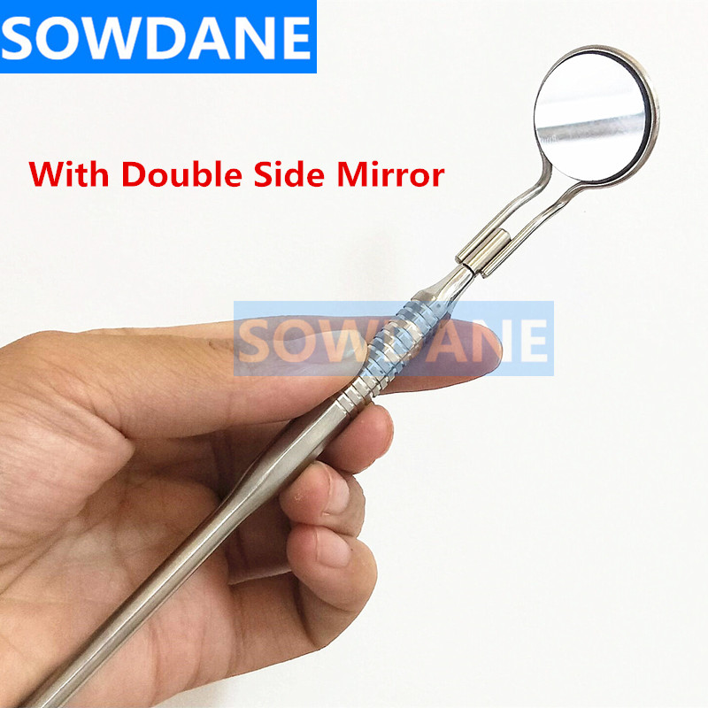 Dental Teeth Whitening Mouth Mirror Oral Examination Tool Teeth Cleaning Tool Oral Care Hygiene Stainless Steel Glass Mirror
