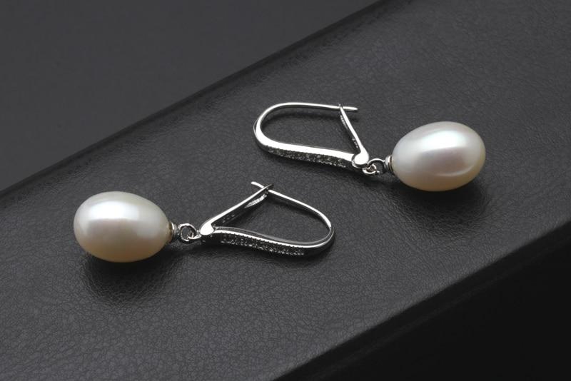 fb3cf9db5d43f Wedding girls birthday gift gray natural pearl earrings,black rendy 925  sterling silver freshwater pearl earrings for women