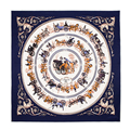Royal Carriage Pure Silk Scarf Women Fashionable Foulard Brand Multifunctional Bandana Hot