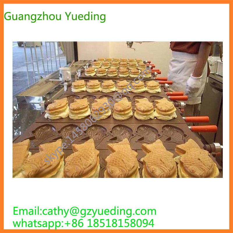 Ce Approved Ice Cream Taiyaki Machine Wholesale Taiyaki Waffle Maker Pan High Quality Fish Shape Taiyaki Making Machine taiyaki fish maffle maker waffle ice cream machine
