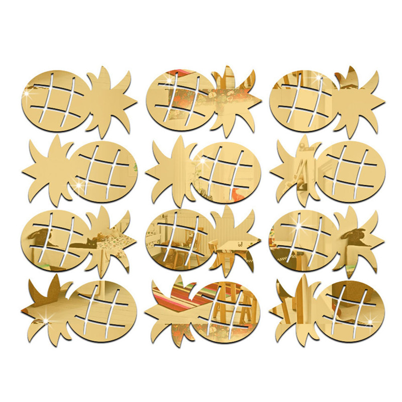 Buy 12pcs set cheap pineapple shaped - Cheap wall decals for living room ...