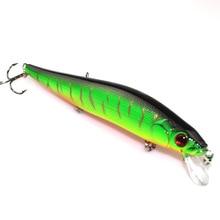 ANZHENJI 2017 New 14cm 23g Fishing Lure Minnow hard bait Artifical with 3 fishing hooks fishing tackle Lure 3D eyes peche pesca