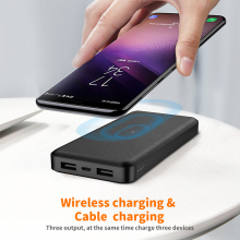 Wireless Charger Power Bank 10000mAh Dual USB Powerbank