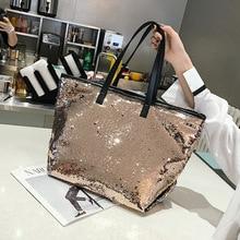 Colorful Sequin Beach Handbag Simple Shoulder bag Hot Sale Crystal Tote Female High capacity Shopping Bag Women Bags Designer