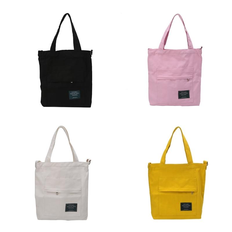 Women's Shoulder Canvas Bag Travel Shopping Handbags Tote Crossbody Bags