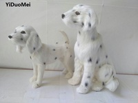 Artificial Dalmatian Polyethylene Furs Large Spotted Dog Model Handicraft Miniatures Prop Home Decoration Toy Gift A1774
