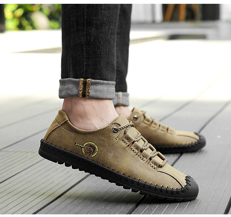 HTB18lNhazzuK1RjSsppq6xz0XXa7 - 2019 New Fashion Leather Spring Casual Shoes Men's Shoes Handmade Vintage Loafers Men Flats Hot Sale Moccasins Sneakers Big Size