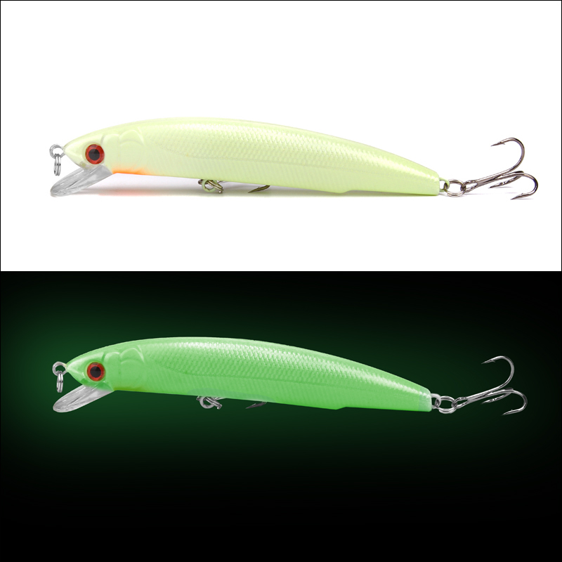 1Pcs 11cm 18g 3D Luminous Night Bait Fishing Minnow Lure Isca Artificial Hard Warped Fishing Bass Crank Tackle Crankbait YE-232 1pcs fishing lure bait minnow with treble hook isca artificial bass fishing tackle sea japan fishing lure 3d eyes