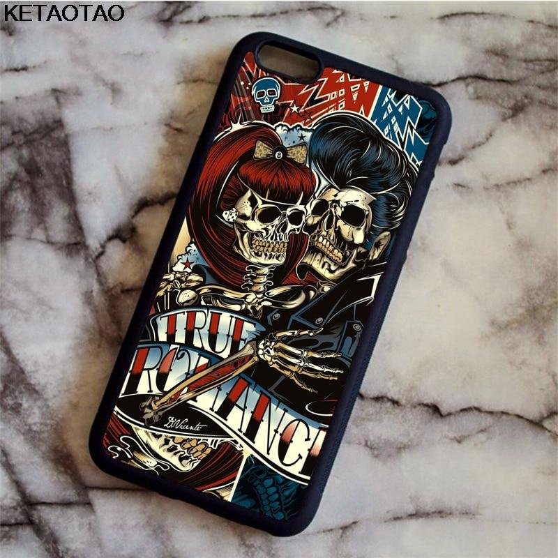 Zielsetzung Ketaotao Candy Schädel Rock N Roll Telefon Fällen Für Iphone 4 S 5c 5 S 6 6 S 7 8 Plus X Für Samsung Hinweis Fall Weichen Tpu Gummi Silikon