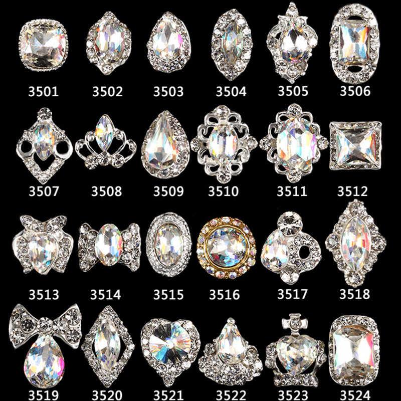 MAFANAILS 10pc 3501-3524 nail K9 glass gem stone strass rhinestones nail  art 3d decoration 86e071dd7ac8