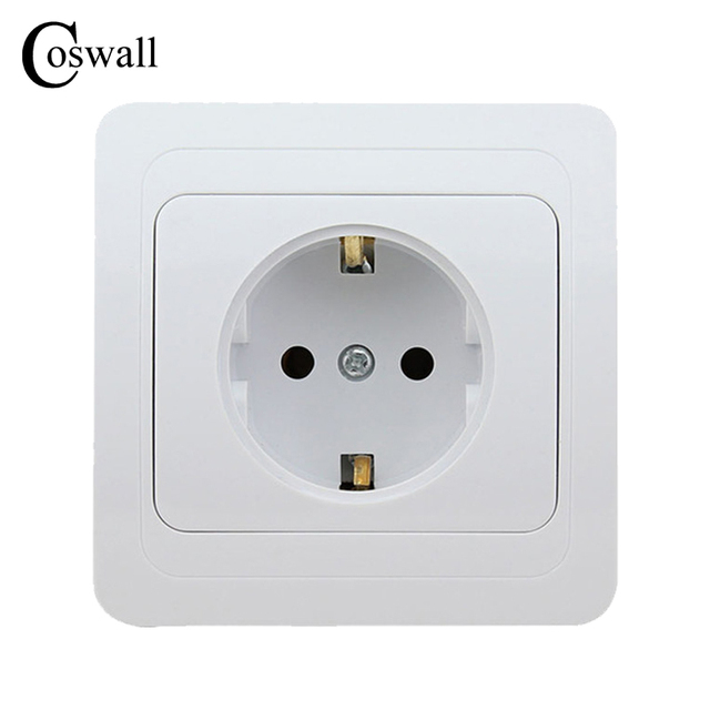 Wall Power Socket, 16A EU / Russia Standard Electrical Outlet ...
