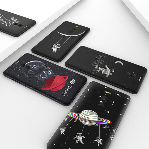 Fashion painted black case For Meizu M6 Note Meilan 6 M6S M6T 16X cases Anti-knock Cover For Meizu 16 Pro 7 Plus  Covers Bumper Lahore
