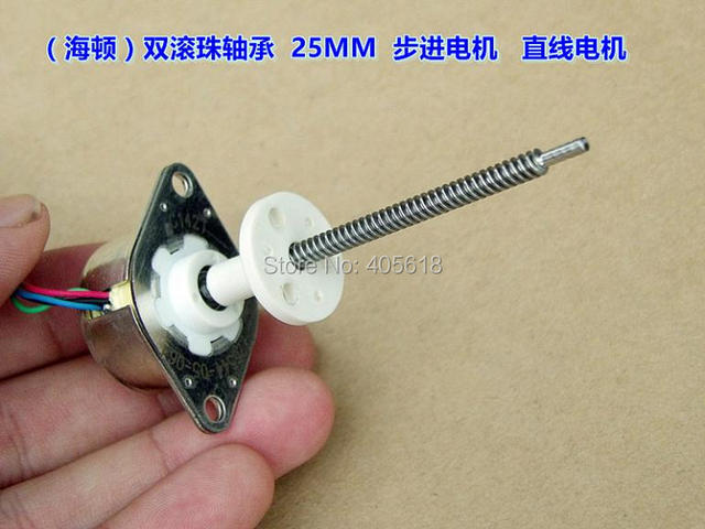 25mm durchmesser 12 V dc lineare schrittmotor 2 phase 4 draht ...