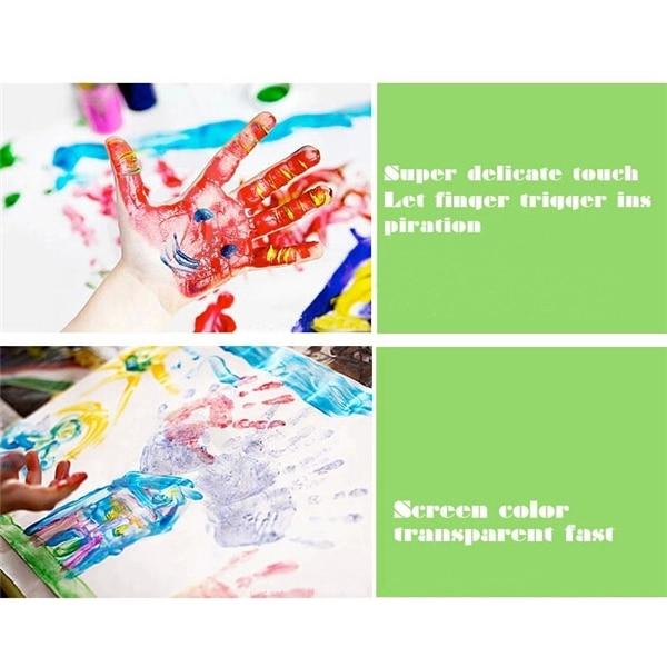 6pcs/Set DIY Finger Painting Sets Paint Coloring Book Best ...