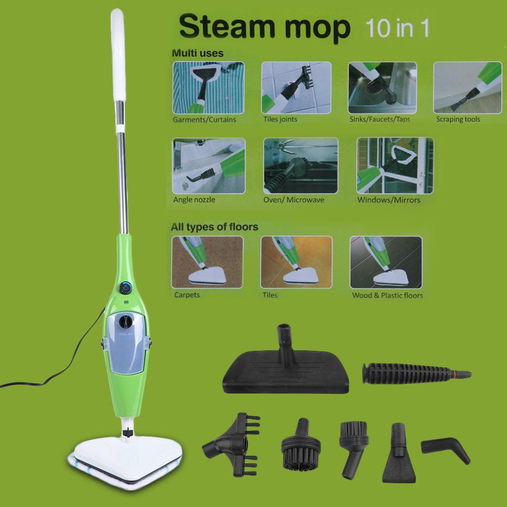 10 In 1 Multifunctional Steam Mop Cleaner Portable Cleaning Tool Daily Household Kitchen Retractable Sweeping Appliances