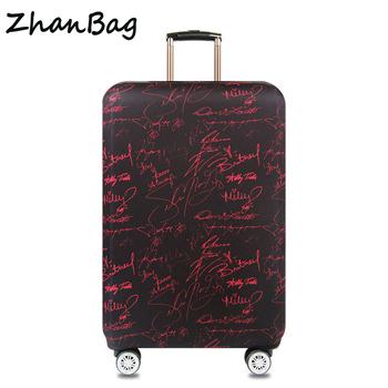 Zagęszczona elastyczna walizka ochronna pokrowiec podróżny Pokrowce bagażowe pokrowce ochronne na walizki pasują od 18 do 32 Z51 tanie i dobre opinie Akcesoria podróżne Z-51 Elastyczna tkanina 23cm 58cm 450g Pokrowiec na bagaż Elastyczne włókna poliuretanowe W QEHIIE