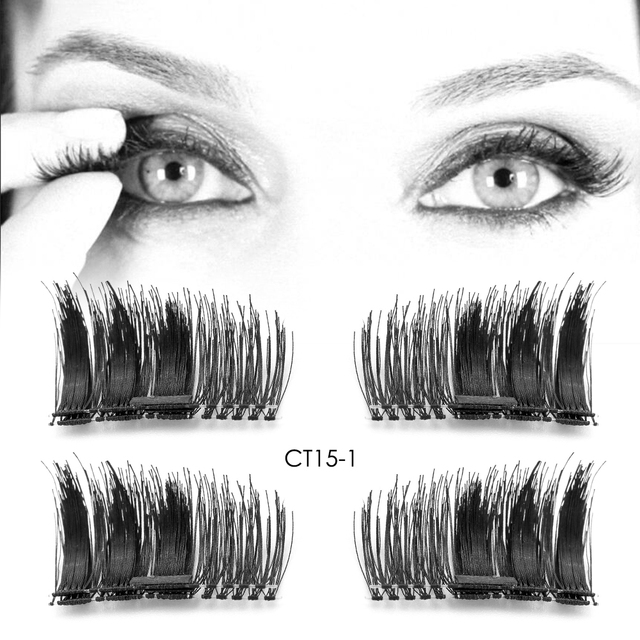 clearance 4pcs pair magnet false eyelash cross cilios posticos fake