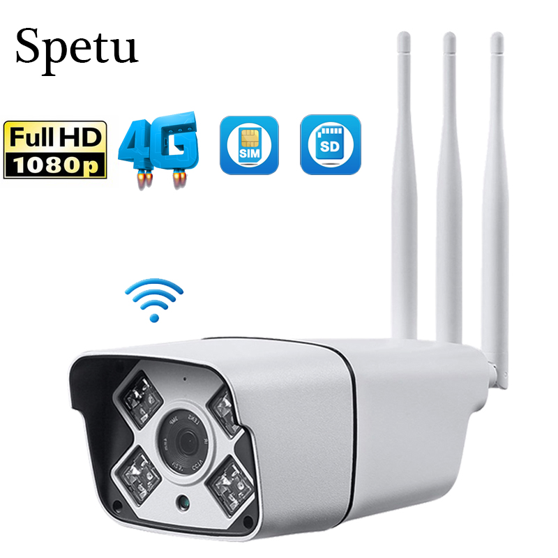 Spetu HD1080P <font><b>3G</b></font> <font><b>4G</b></font> <font><b>SIM</b></font> <font><b>Card</b></font> <font><b>Camera</b></font> Wifi Outdoor IP66 Waterproof Bullet <font><b>Camera</b></font> Wireless IR 50M CCTV IP <font><b>Camera</b></font> Send <font><b>4G</b></font> <font><b>SIM</b></font> <font><b>Card</b></font> image