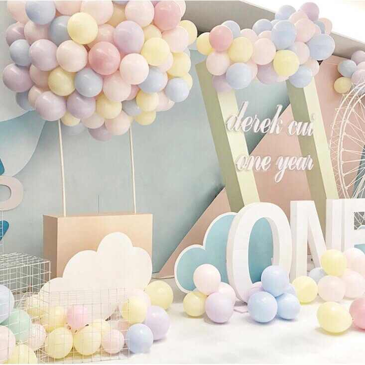 10/36 inch Pastel Candy Balloons Wedding Party Round Helium Macaron Balloon Arch Decoration