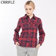 b507392752675c Causal Women Plaid Shirts Long Sleeve Blouse Shirt Plus Size 5XL Cotton  Plaid Women Tops blusas