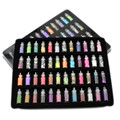 New 48 MIX Colors Nail Art Stickers Sequins 3D Glitter Powder Manicure Set DIY
