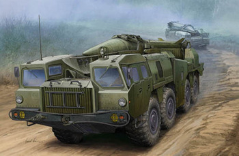 1:35 Soviet Launcher with R17 Rocket Missile Complex Military Scud -B Ballistic Missiles and Trucks 01019