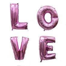 40 인치 생일 축하 편지 풍선 파티 장식 웨딩 호일 풍선 이름 풍선 globos baloes 공기 풍선 globos