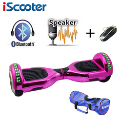 iScooter New 6.5 inch hoverboard bluetooth and LED Giroskuter 2 Wheel Self balancing Gyroscooter Hover board Two Wheel Oxboard