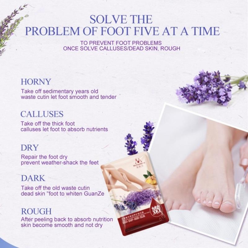 Schönheit & Gesundheit Hautpflege Efero Peeling Fuß Maske Für Beine Creme Lavendel Essenz Heels Entfernen Die Haut Glatt Pediküre Socken Baby Füße Schälen Maske Moderater Preis