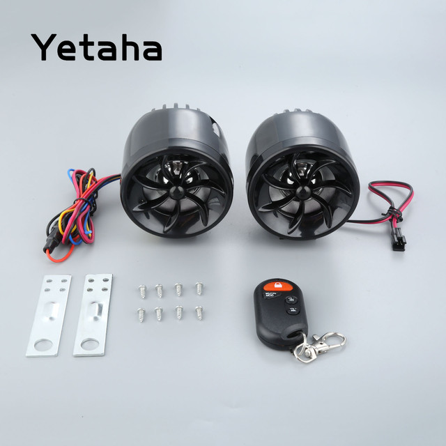 yetaha mt483 motorcycle audio external wiring mp3 player speaker anti-theft  protection support fm usb sd aux with voice prompts
