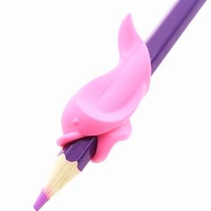 Image 3 - 500pc ergonomik kalem kalem tutacağı erkek kız evrensel el yazısı yardım aksesuar mesleki terapi çocuklar kalem kontrolü sağ silikon