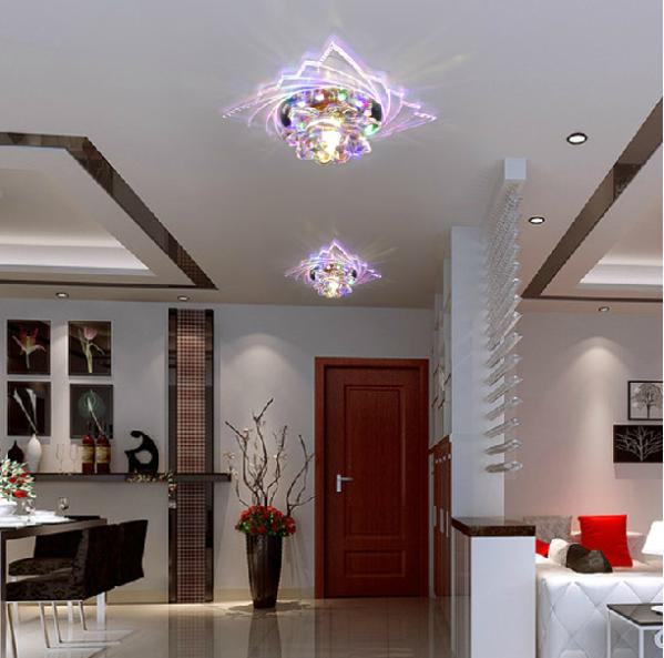 3W luxus LED kristály mennyezeti lámpa modern akril mennyezeti - Beltéri világítás