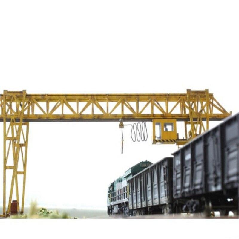 1: 87 échelle modèle grue en plastique exquis modèle pour train de chemin de fer scène mise en page haute qualité