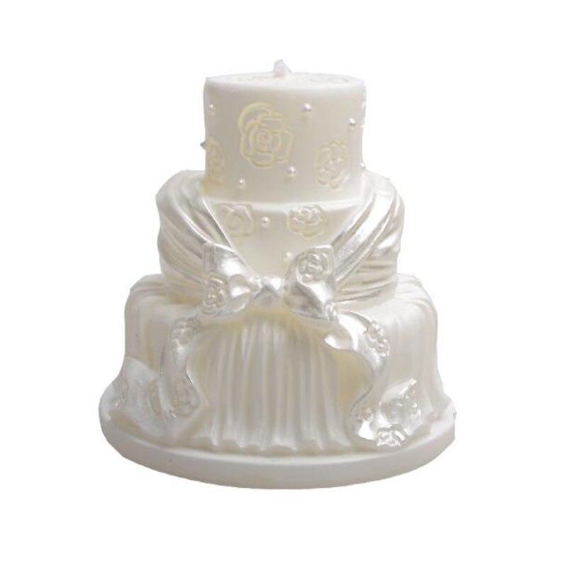 oferta especial nueva jabn molde de la torta de boda blanco vela moldes