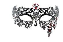 Diamond princess prom metal mask party holloween