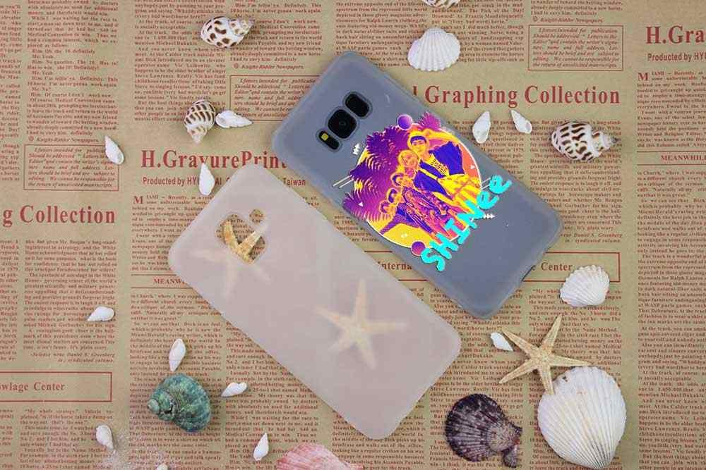 SHINee KPOP Boy รูปแบบ Soft TPU ฝาครอบโทรศัพท์สำหรับ Samsung Galaxy S6 S7 EDGE S8 S9 S10 S11 PLUS E Note 8 9 10Plus Funda ETUI