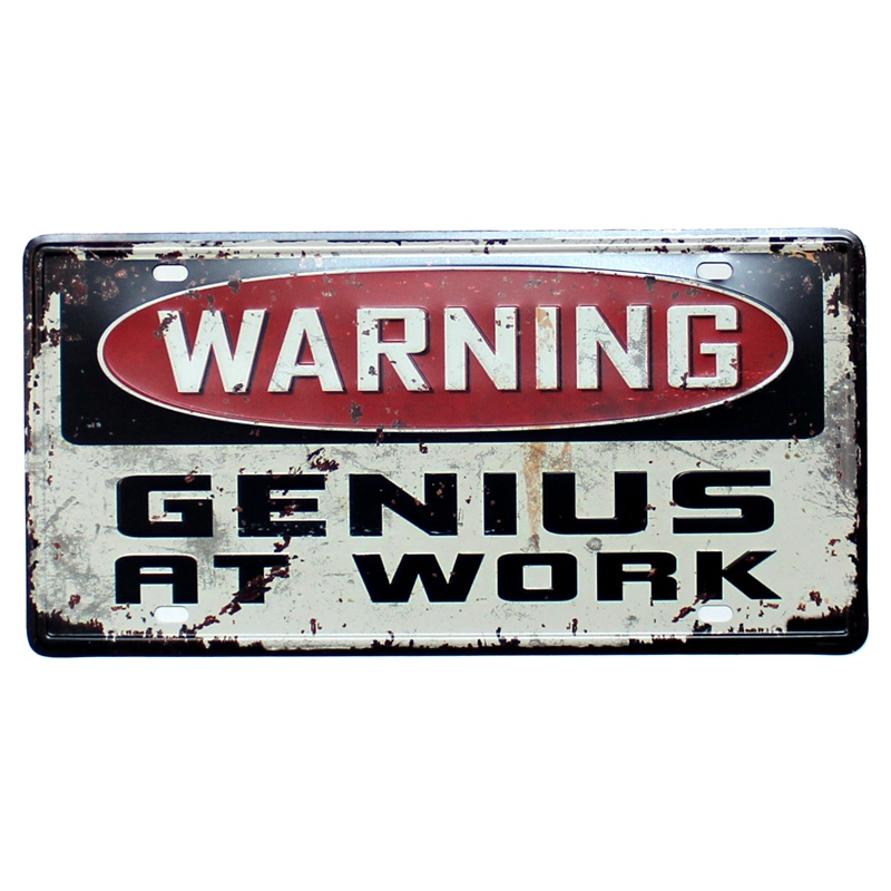 Warning Notice license plate Metal Painting Retro Signs Vintage Wall Bar Ktv Coffee Home Art Decor 30X15CM B 491B in Plaques Signs from Home Garden