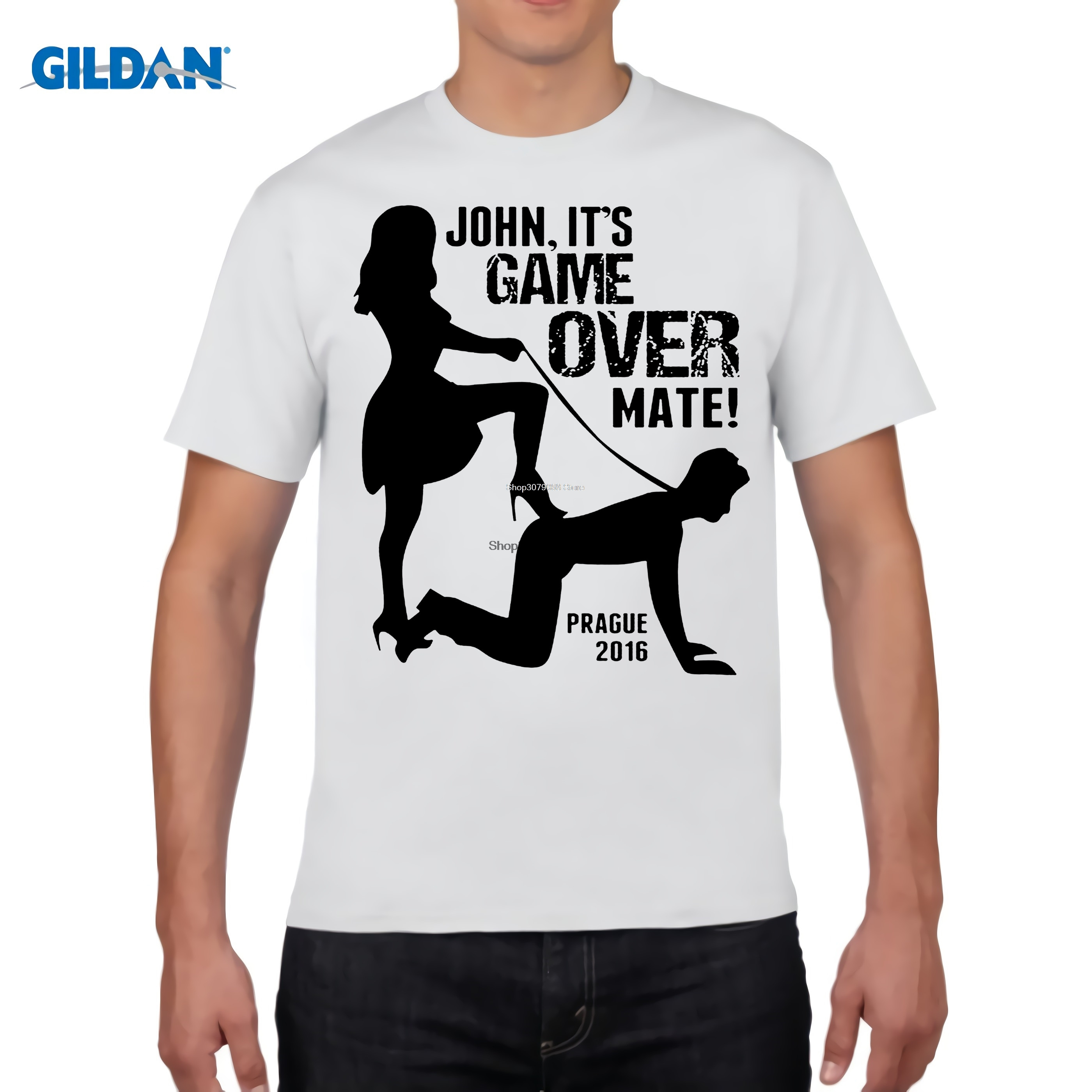 GILDAN designer t shirt 2017 New T-Shirt Woman Clothing Its Game Over Personalised Custom Stag Do Ladies Women Tee shirt