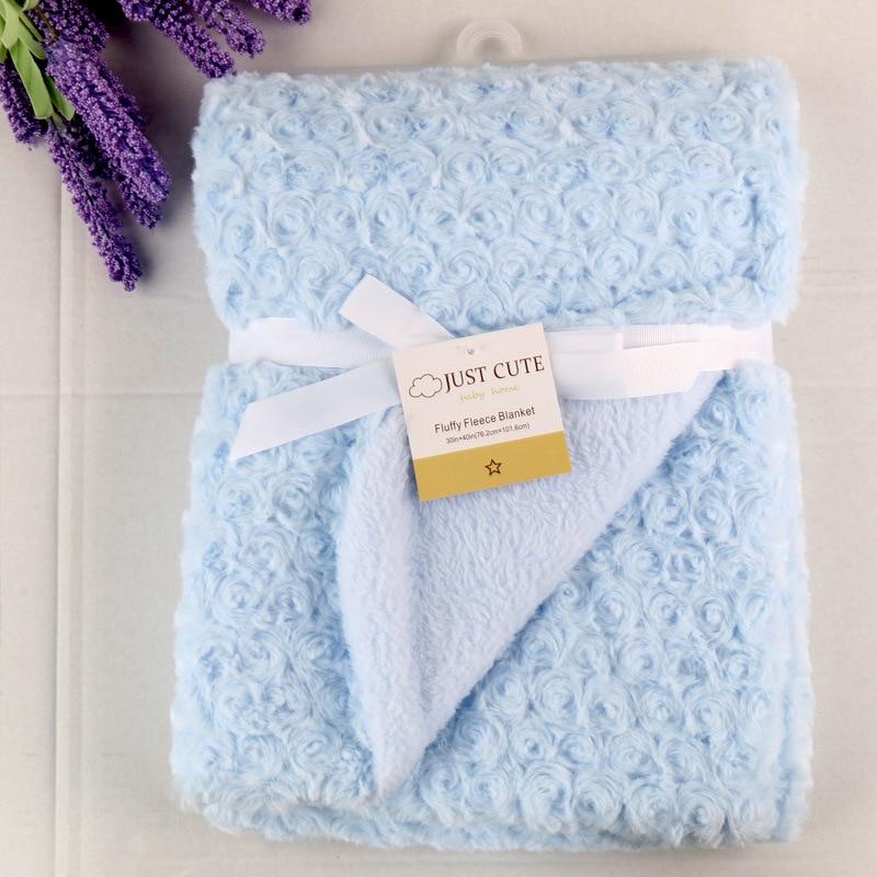 New Newborn Photography Props Rose Blanket Baby Warm Fleece Swaddle Blanket For Sofa/Bed  Pink Velvet Kids Double Coral Blanket