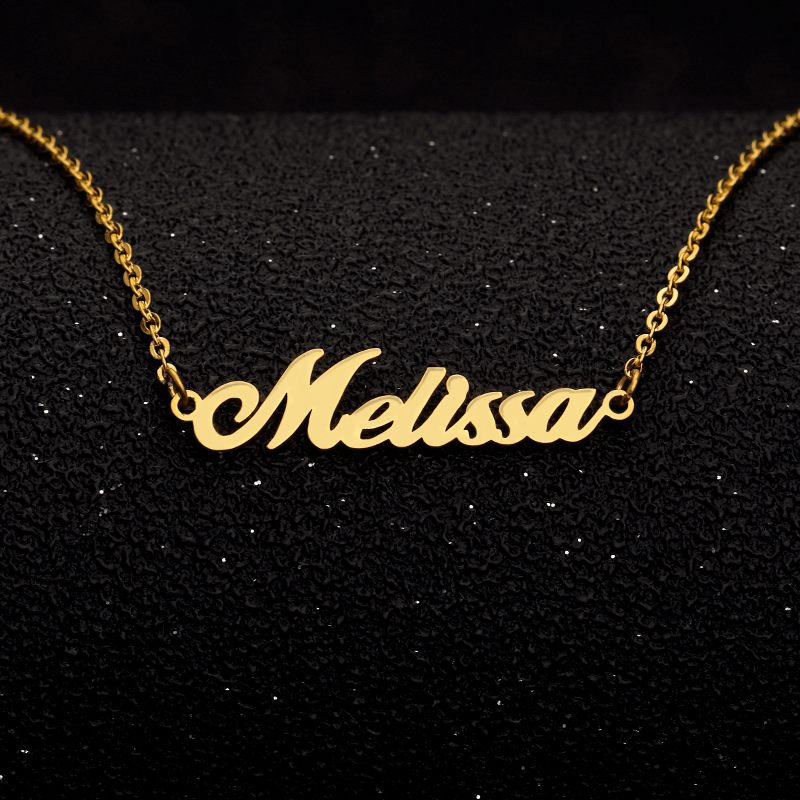 US $7 99 30% OFF|Name BFF Jewelry Any Personalized Name Necklaces Women Men  Gold Chain Collar Mujer Custom Necklace Engraved Bridesmaid Gift Idea-in
