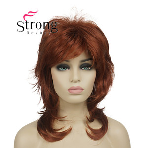 """Image 2 - StrongBeauty 16"""" Long Blonde Fluffy Shag PermaTeased Full synthetic Wig Wigs COLOUR CHOICES"""