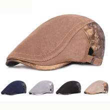 HT2413 New Beret Cap Spring Summer Men Women Cap Adjustable Newsboy Ivy Flat Cap Breathable Mesh Cap Hats for Men Women Berets цена и фото