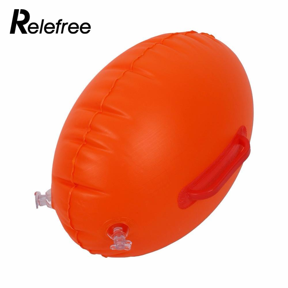 Relefree Safety Swimming Security Inflatable Float Buoy Flotation Ball For Open Water Sea swimming floating belt exercise swim support device inflatable safety buoy waistband for kid adult pool open water sea toy gift