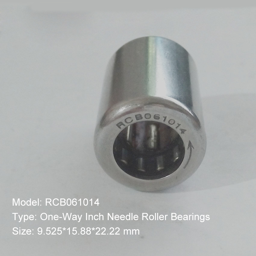 RCB061014 Inch Size One Way Drawn Cup Needle Bearing 9.525*15.88*22.22 mm ( 2 Pcs ) Cam Clutches RCB 061014 Back Stops Bearings