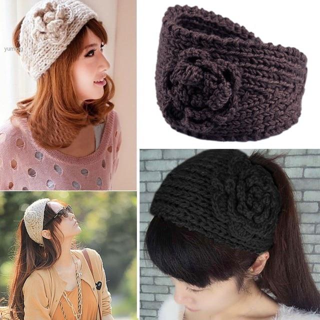 3 teile/los HEIßER VERKAUF Handgemachte Frauen gestrickte stirnband ...
