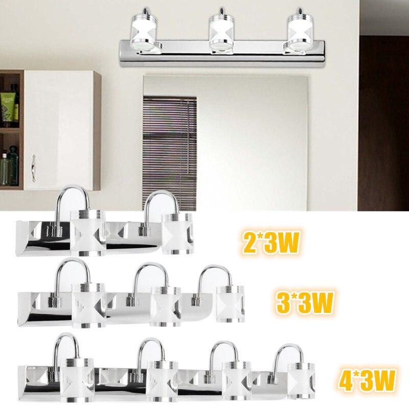 modern 5730smd led light bulb 6w 9w 12w acrylic bathroom mirror front lamp makeup lights toilet bathroom makeup lighting