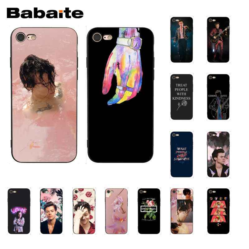 Babaite Harry Styles Treat People With Kindness DIY Painted Phone Case for iPhone 8 7 6
